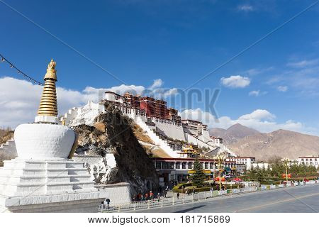 the potala palace in lhasa city tibet autonomous region China