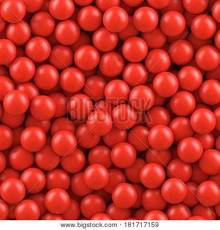 Red balls background. Vector illustration Eps 10