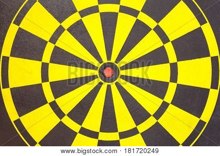 Texture Of Yellow And Black Dart Board