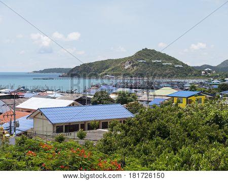 The fishing village Ban Chong Samae San near Sattahip in the Chonburi Province of Thailand.