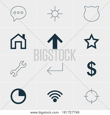 Vector Illustration Of 12 Interface Icons. Editable Pack Of Asterisk, Screen Capture, Money Making And Other Elements.