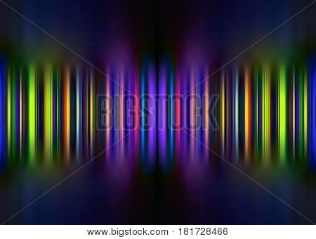 Colourful purple and green motion blur striped background with selective focus