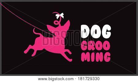 Dog grooming.Logo for dog hair salon. Dog beauty salon logo. Pet grooming salon.