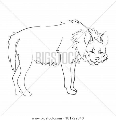 Silhouette Of A Hyena Stylized On A White Background.  For Use As Logos On Cards, In Printing, Poste