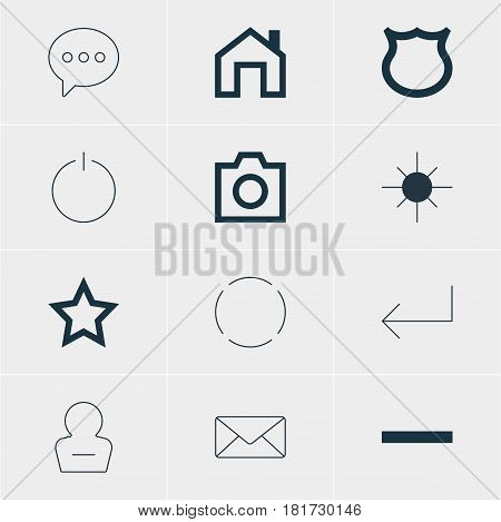 Vector Illustration Of 12 Member Icons. Editable Pack Of Repeat, Accsess, Asterisk And Other Elements.
