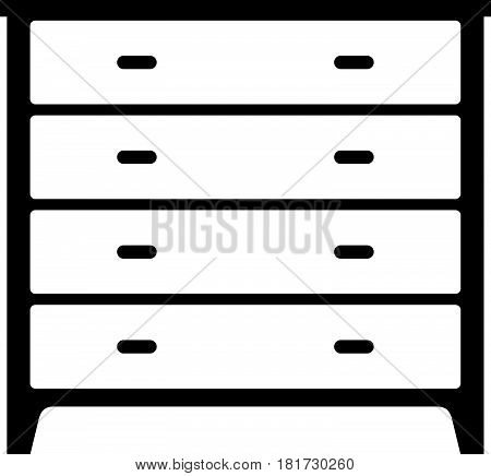 Stenciled dresser with four drawers ( shade picture )