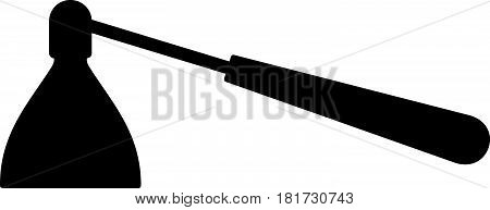 Candle snuffer ( shade picture ) on white