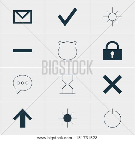 Vector Illustration Of 12 User Icons. Editable Pack Of Wrong, Hourglass, Top And Other Elements.