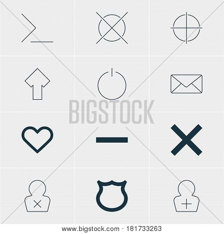 Vector Illustration Of 12 Member Icons. Editable Pack Of Emotion, Banned Member, Envelope And Other Elements.