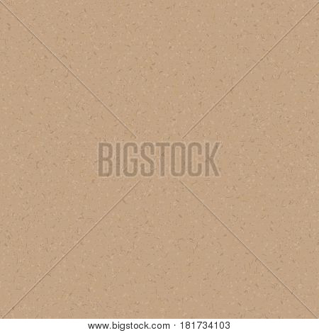 Paper cardboard texture. Vector seamless pattern. Grunge effect. Retro wrapping paperboard. Light brown, beige carton. Simple template for cards, banners, recycle posters design.
