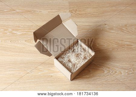 Opened Cardboard Gift Box