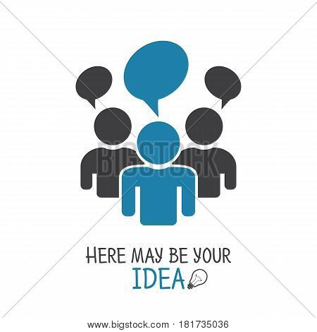 Icon Communication And Concept, Here May Be Your Idea