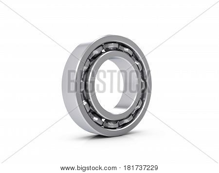 Ball bearing on a white background. 3d illustration.