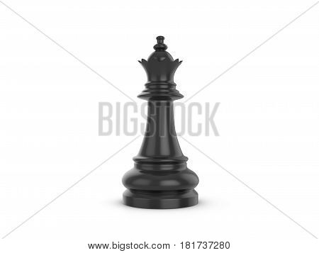 Chess queen on a white background. 3d illustration.