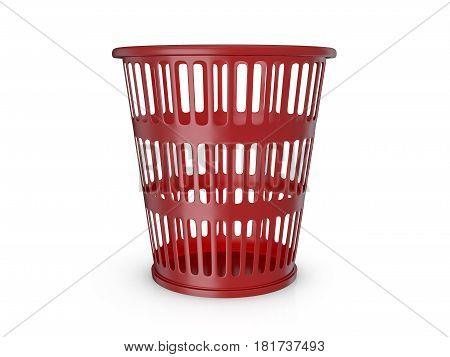 Trash Can 3D Illustration