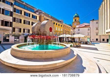 Rijeka Square And Fountain View