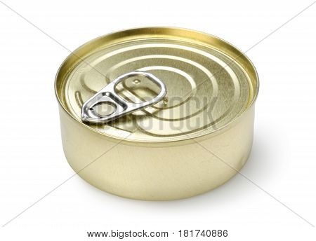 Canned pate isolated on a white background