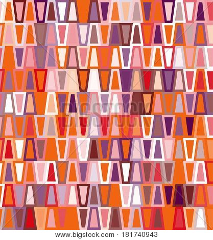 Colored geometric seamless trapezoid pattern for design