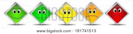 decorative colorful Voting Buttons - 3D illustration