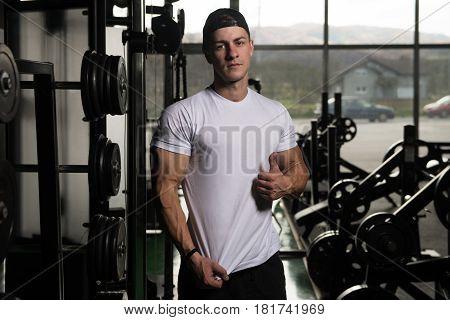 Man Posing In White T-shirt
