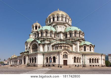 Alexander Nevsky Cathedral in Sofia, capital of Bulgaria.