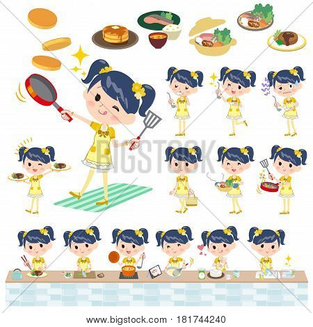 Pop Idol In Yellow Costume Cooking