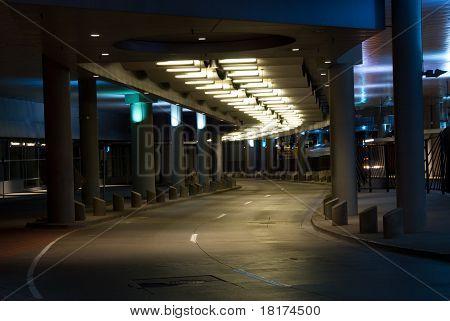 City Underpass At Night