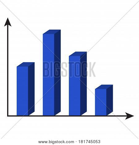 Template 3d chart. Info isometric element vector illustration