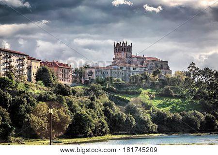 Castle in San Vicente de la Barquera, Spain.