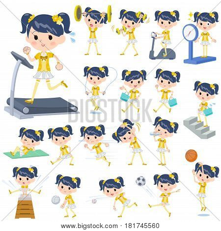 Pop Idol In Yellow Costume Sports & Exercise
