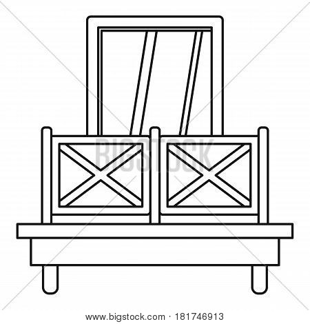Balcony and window icon. Outline illustration of balcony and window vector icon for web