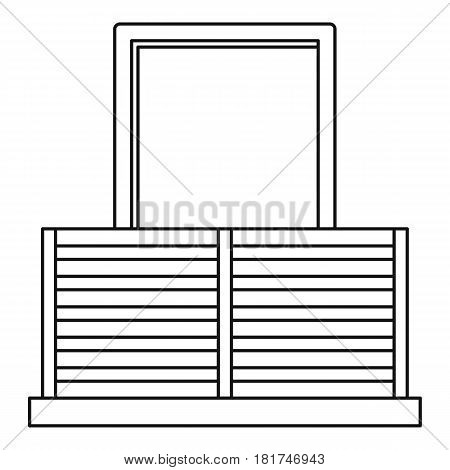 Balcony icon. Outline illustration of balcony vector icon for web
