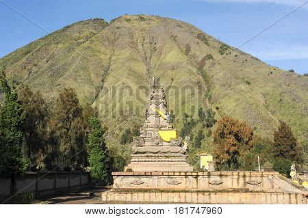 Hindu Temple At The Foot Of Mount Bromo, Indonesia