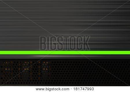 Lamp stereo amp music background 3D illustration