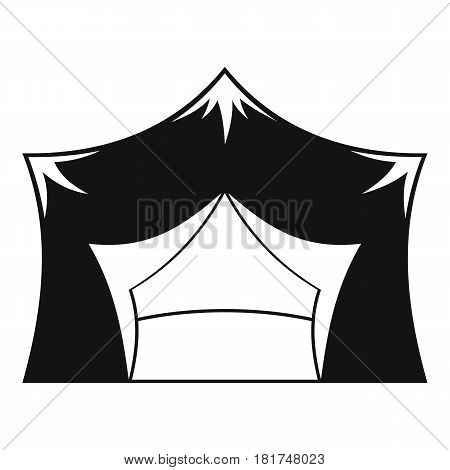 Awning tent icon. Simple illustration of awning tent vector icon for web