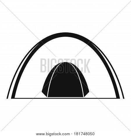 Camping dome tent icon. Simple illustration of camping dome tent vector icon for web