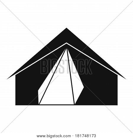 Open tent icon. Simple illustration of open tent vector icon for web