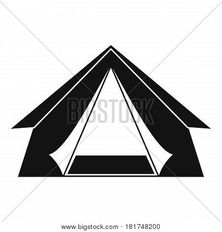 Tourist tent icon. Simple illustration of tourist tent vector icon for web