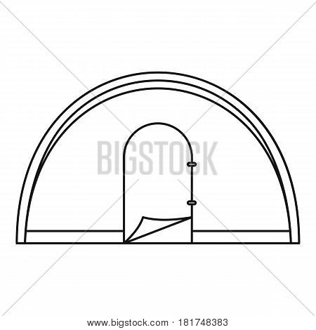 Dome camping tent icon. Outline illustration of dome camping tent vector icon for web