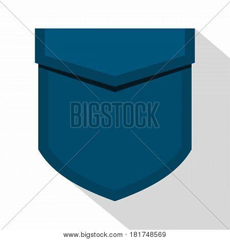 Blue pocket with valve icon. Flat illustration of blue pocket with valve vector icon for web on white background