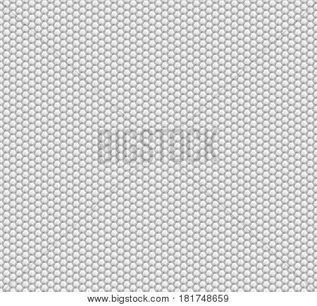 Abstract background of white hexagons. Wallpapers for web sites. Very small honeycombs are connected. 3D vector illustration