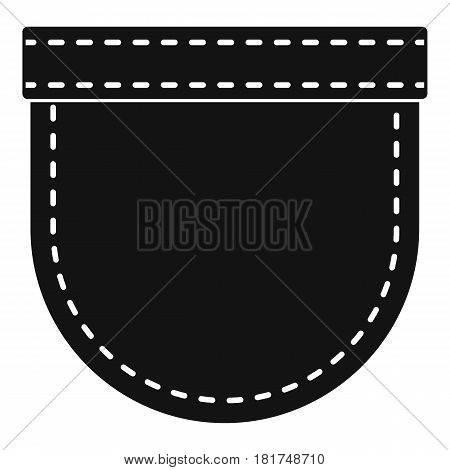 Shirt pocket icon. Simple illustration of shirt pocket vector icon for web