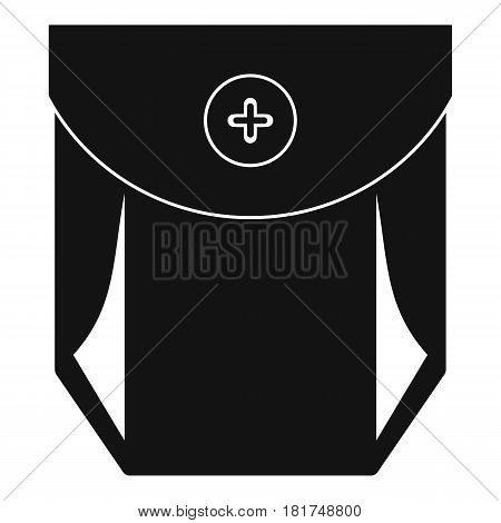 Jeans pocket with button icon. Simple illustration of jeans pocket with button vector icon for web