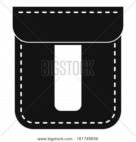 Black pocket icon. Simple illustration of black pocket vector icon for web