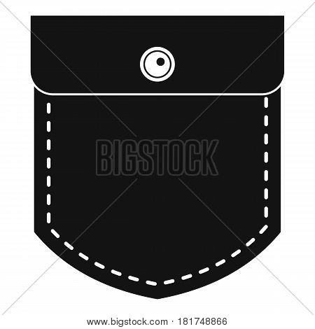 Black jeans pocket icon. Simple illustration of black jeans pocket vector icon for web