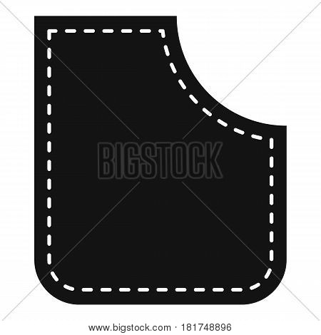 Abstract pocket icon. Simple illustration of abstract pocket vector icon for web