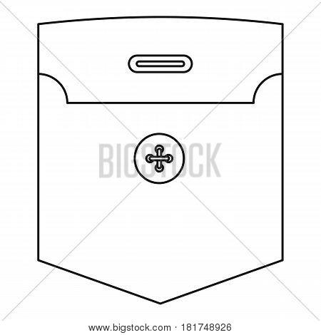 Shirt pocket icon. Outline illustration of shirt pocket vector icon for web