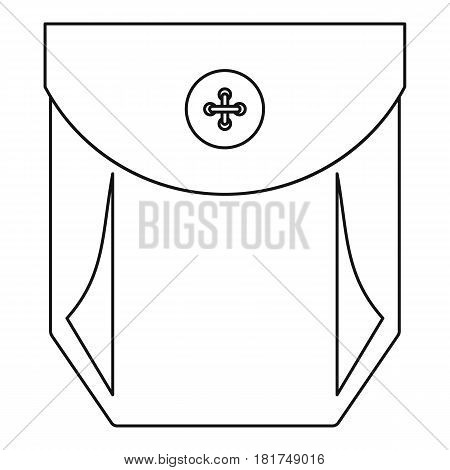Pocket with valve icon. Outline illustration of pocket with valve vector icon for web