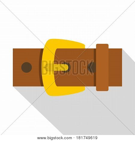 Gold buckle icon. Flat illustration of gold buckle vector icon for web on white background