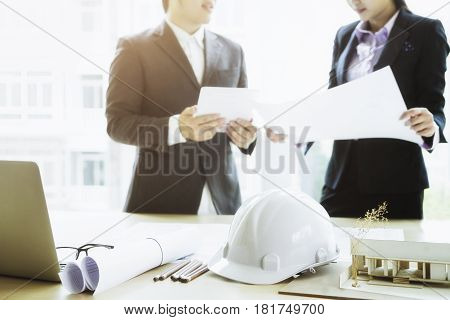 Engineer Meeting For Architectural Project Working